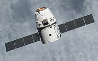 For the power supply, the solar arrays of the Dragon capsule are oriented towards the sun by maxon motors