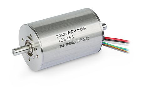 With a correspondingly optimized magnet ring, the brushless EC-i motors with iron windings offer a very high torque density and a low cogging torque