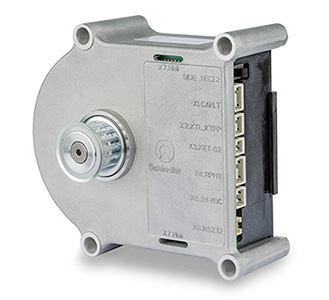 The drive consists of a brushless DC 90mm flat motor with an integrated MILE Encoder and an EPOS2 positioning controller